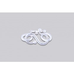 SJ-3  Pack of 100 pieces Argentium S-Clasp With Jump Ring