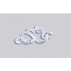 SJ-4  Pack of 3 pieces Argentium S-Clasp With Jump Ring