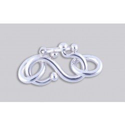 SJ-6  Pack of 10 pieces Argentium S-Clasp With Jump Ring