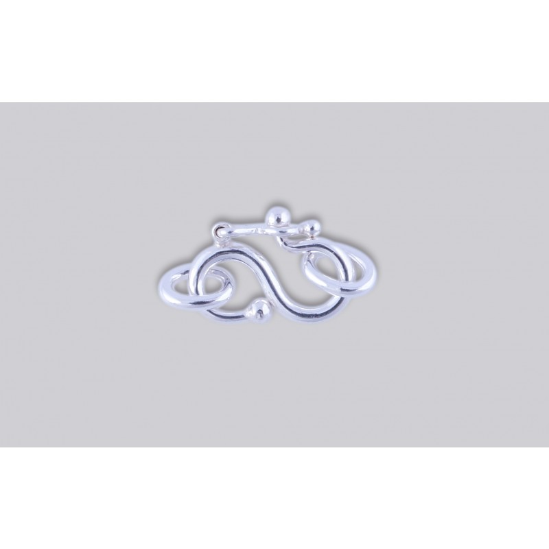 SJ-2  Pack of 3 pieces Argentium S-Clasp With Jump Ring