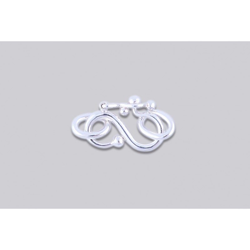 SJ-3  Pack of 10 pieces Argentium S-Clasp With Jump Ring