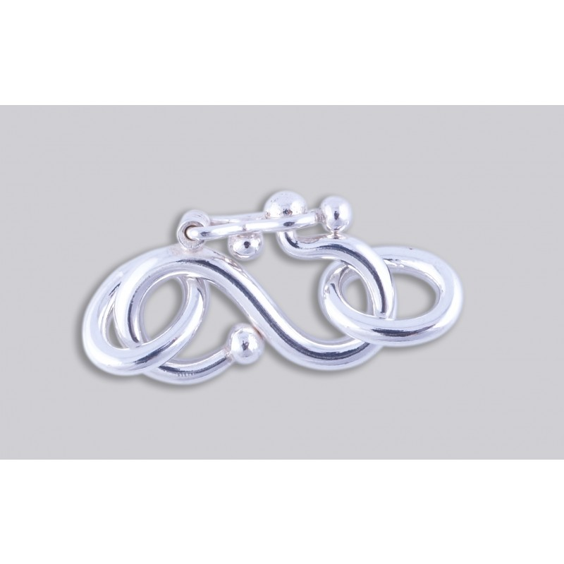 SJ-6  Pack of 3 pieces Argentium S-Clasp With Jump Ring
