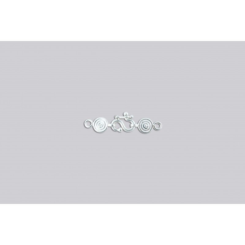 SD-1 Pack of 100 pieces  Argentium S-Clasp With Disk End