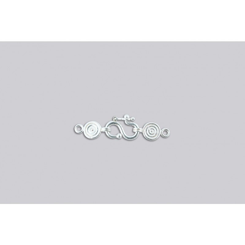 SD-2 Pack of 10 pieces  Argentium S-Clasp With Disk End