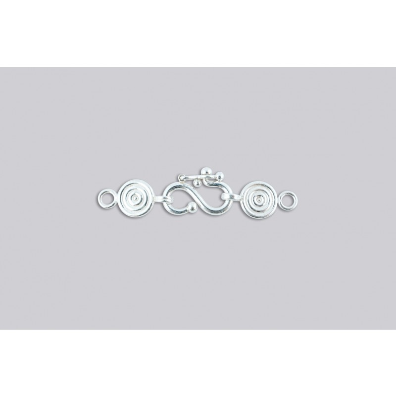 SD-3 Pack of 3 pieces  Argentium S-Clasp With Disk End